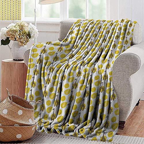 (Throw Blankets Fleece Blanket,Giraffe,Safari Wild Animal Art Pattern with Green Spots for Baby Kids, Yellow Green Dark Brown White,300GSM, Super Soft and Warm, Durable 50