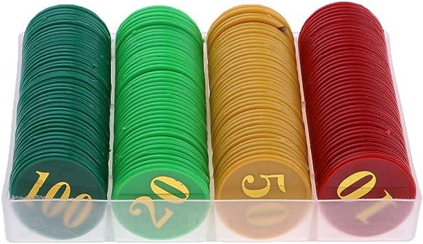 IPOTCH 160 Unidades Fichas Coins Chips de Acrílico Reemplazos de Dinero para Juego de Mesa - números 10, 20, 50, 100: Amazon.es: Juguetes y juegos