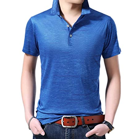 NDHSH Camisas Polo de los Hombres Camiseta de Manga Corta Mezcla ...