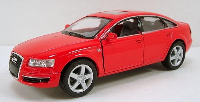 Negro Kinsmart Audi A6 Model Car Diecast Puertas de Apertura de Metal Detallada Interior Pullback acci/ón 1:38 Modelo de Escala