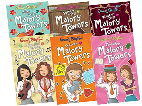 Malory Towers 6 books Collection Pack, 7-12 (Fun & Games At Malory Towers; Goodbye Malory Towers; New Term at Malory Towers; Secrets At Malory Towers; Summer Term At Malory Towers; Winter Term At Malory Towers)