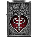 Zippo Gargoyle And Heart Iron Stone Lighter