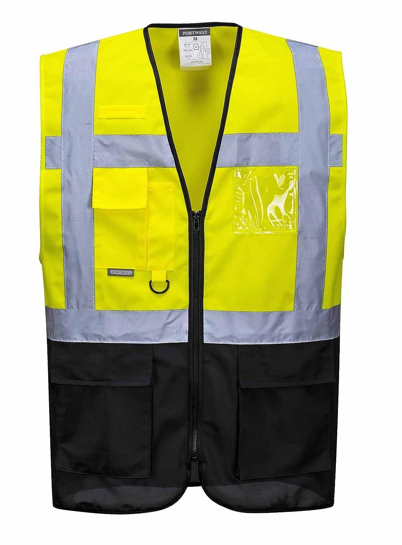 2/x L jaune//noir Portwest C476ybrxxl Varsovie Executive Gilet