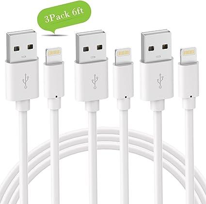 Amazon.com: Novtech - Cable cargador para iPhone (3 unidades ...