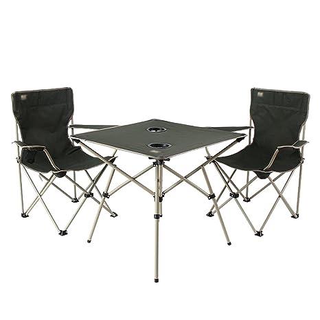 Mesas Mesas de comedor Silla y mesa plegables portátiles al ...