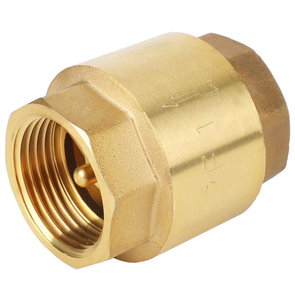 G3//4 Check Valve High Accuracy Brass Threaded Check Valve One Way Non-Return Check Valve for Water Gas Oil