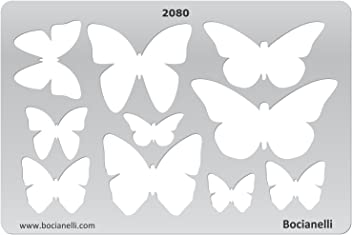 Bocianelli Plastic Stencil Template for Graphical Design Drawing Drafting Jewellery Making - Butterfly Butterflies shape