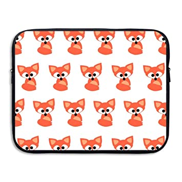 Amazon Com Fashion Laptop Sleeve Case Fox Cute Wallpaper Pattern