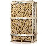 THE CHEMICAL HUTÂ Bulk Crate (675kg, 2cubic meters) of Premium Seasoned Hardwood Ash Logs Firewood Fuel for Open Fire Stoves Log Burner by The Chemical Hut