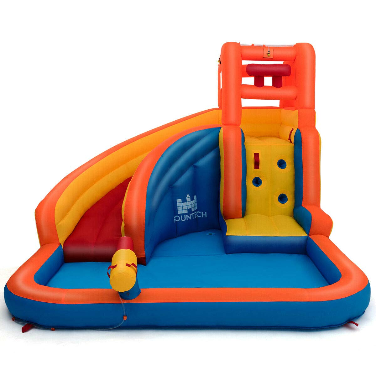 Heize Best Price Orange Inflatable Splash Water Bouncer Slide Bounce House w/ Climbing Wall & Water Hose Splash Pool(U.S. Stock) by Heize Best Price (Image #2)