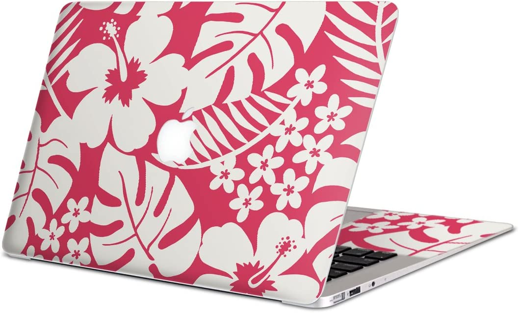 igsticker Skin Decals for MacBook Pro 13 Retina mid 2012-mid2015(Model A1502/A1425) Ultra Thin Premium Protective Body Stickers Skins Universal Cover Hibiscus Plant Pink
