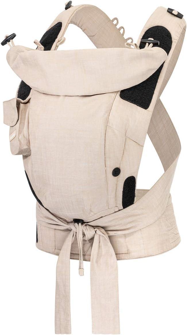 Bondolino Plus - Mochila portabebés, incluye instrucciones de atado, color beige