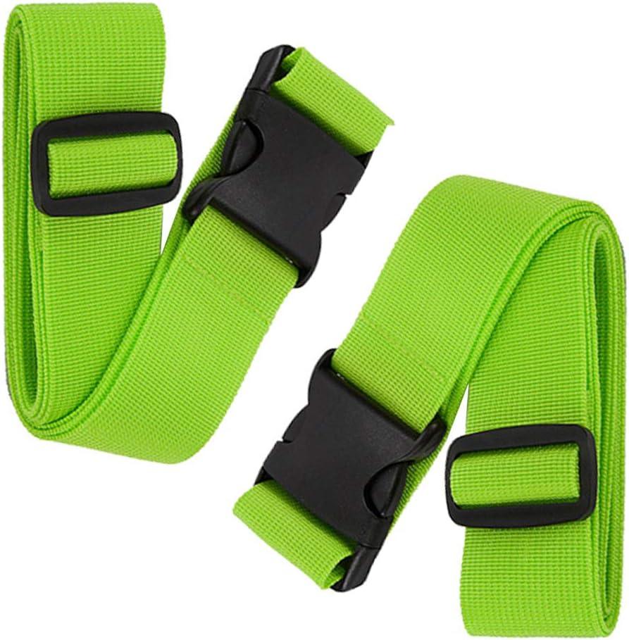 BlueCosto 2X Verde Correas para Equipaje Maleta Accessorios de Viaje Luggage Straps