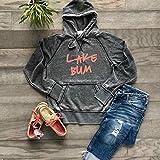 Lake Bum Hoodie Bonfire Hoodie Soft Lightweight Burnout Hooded Sweatshirt