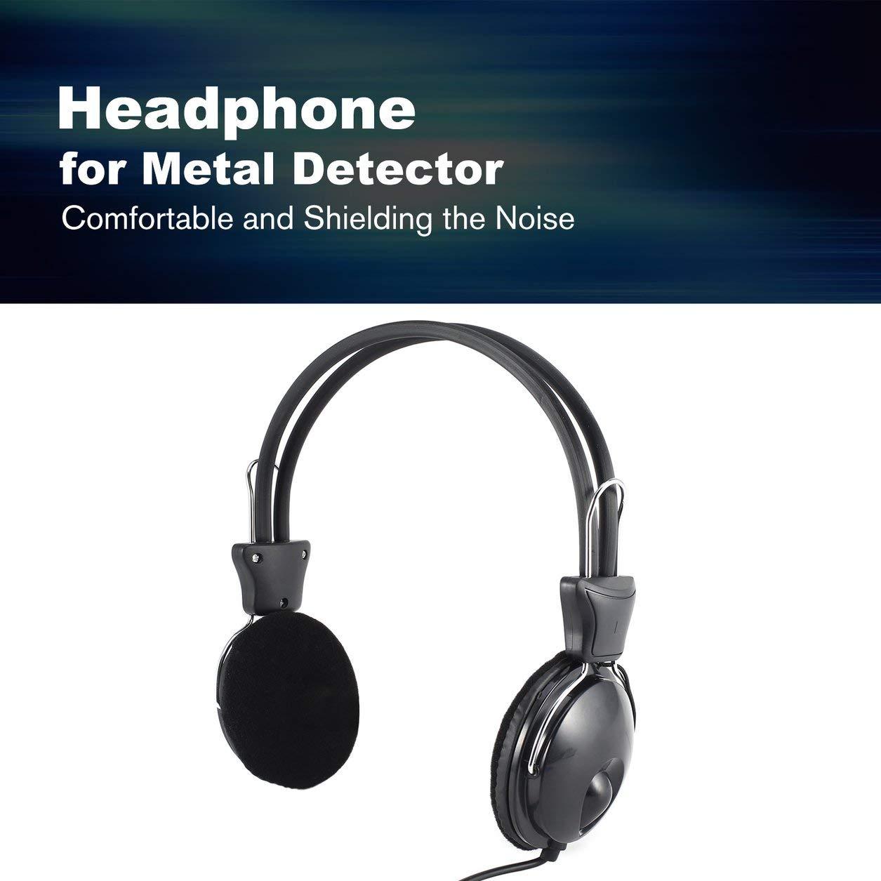Dailyinshop Auricular Auricular para probador de Metales Detector de Oro Treasure Hunter Universal (Color: Negro): Amazon.es: Juguetes y juegos