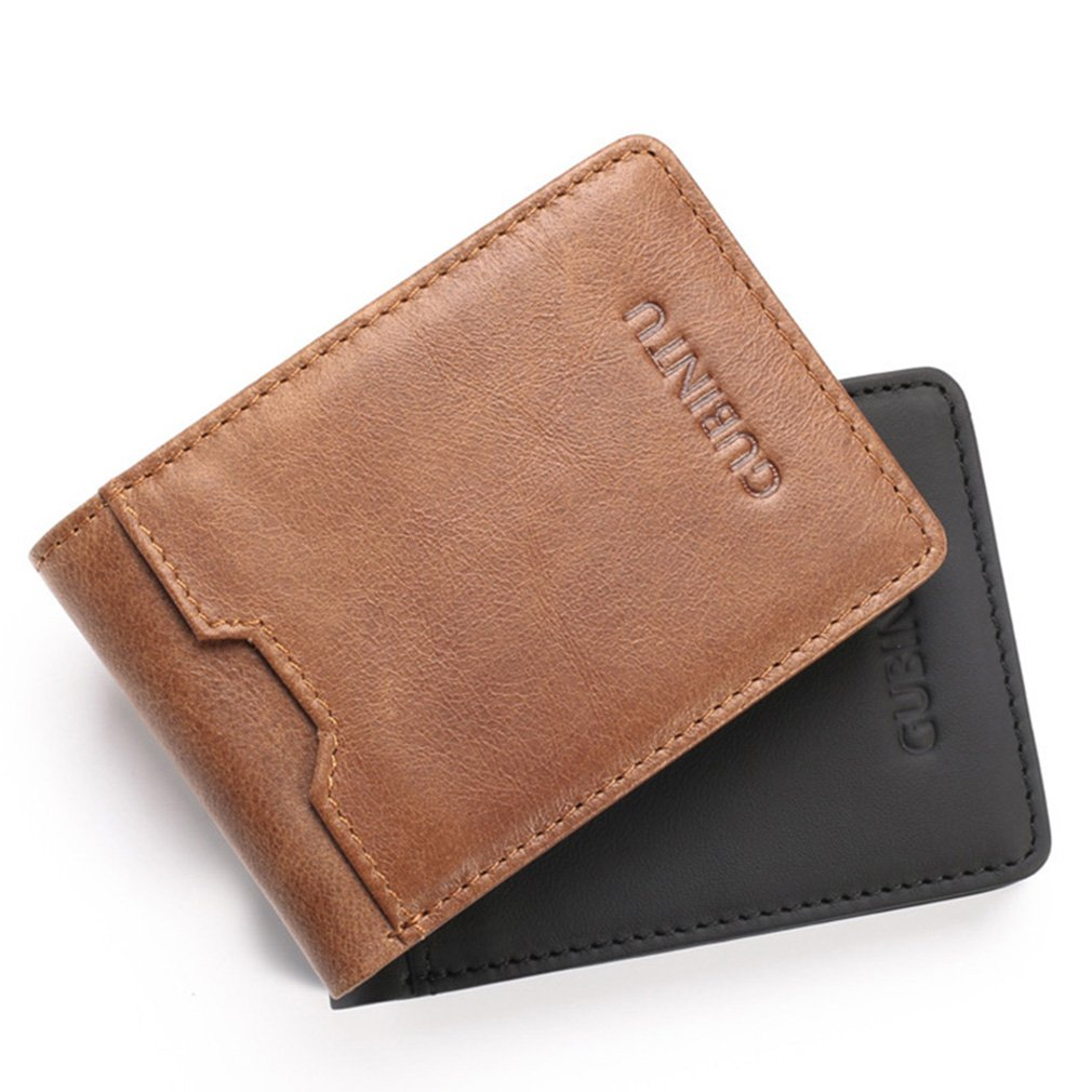 Slim Men Wallet Bifold Vintage Leather Portfolio Rfid Men Card Wallets Minimalist Clamps For Money at Amazon Mens Clothing store:
