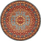 Beautiful Traditional Serapi Cllection Design, Light Blue 6' FT Round Area Rug - Home Décor Foor Carpet Living Dinning Room and Bedroom Rugs, Warm Up Your Home Décor