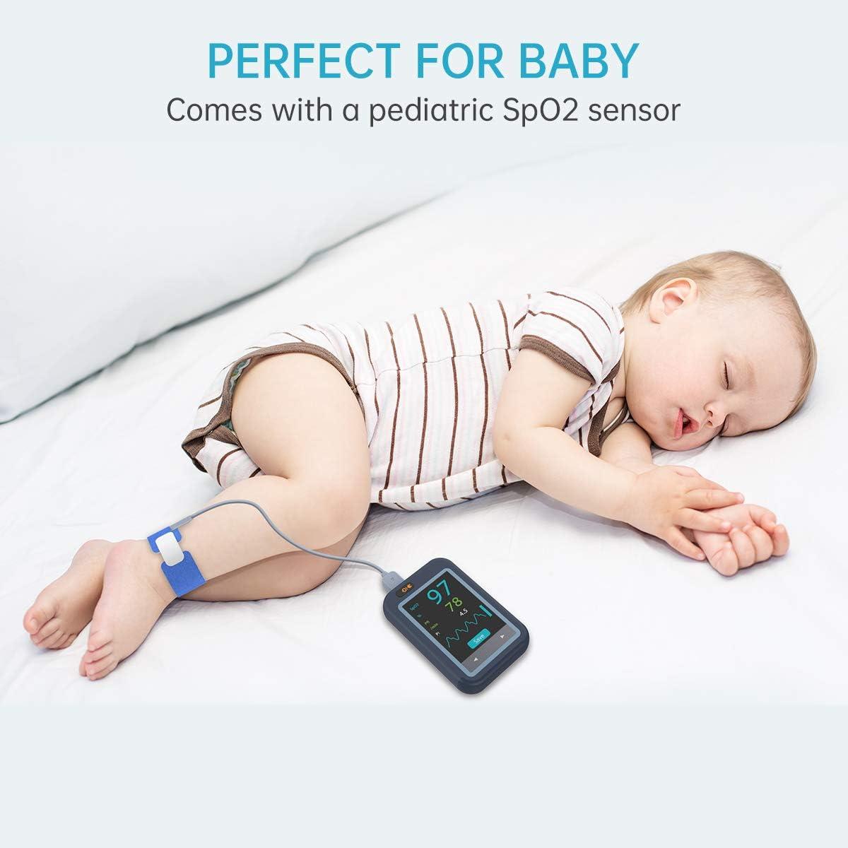 Pulsioxímetro bebés Viatom con Pantalla táctil a color