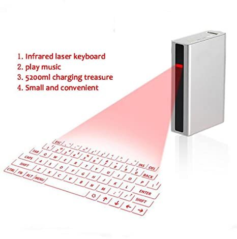 SHANGXIAN Bluetooth Virtual ProyeccióN Teclado para La Tableta del Ordenador PortáTil De La PC del TeléFono