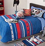 FOOTBALL,SOCCER,BASKETBALL,PLAY BALL TEENS BOYS CHIC COMFORTER SET 5 PCS QUEEN SIZE