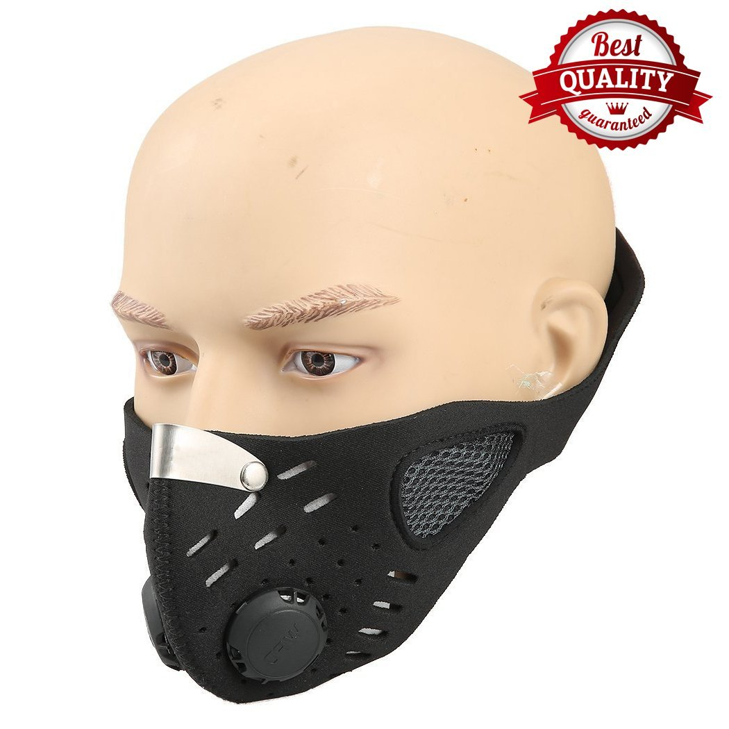 Half Face Mask Black | Comfortable, Washable Soft Cotton | Anti Dust, Fumes, Smoke, Pollen; Respirator that Prevents Allergy and Asthma| Perfect for ATV, Bike, Cycling, Costume, Paintball, Halloween by American Premium Outlet