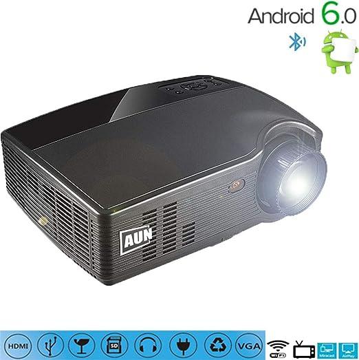 Proyector portátil HD 1080pLED, 3500 lúmenes bajo nivel de ruido ...
