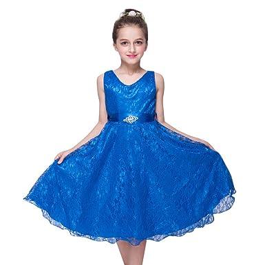 Minuya Minuya Mädchen Party Kleid Kinder Hochzeit Geburtstag Spitze ...