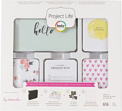 616//Pkg American Crafts Project Life Core Kit-Sunshine