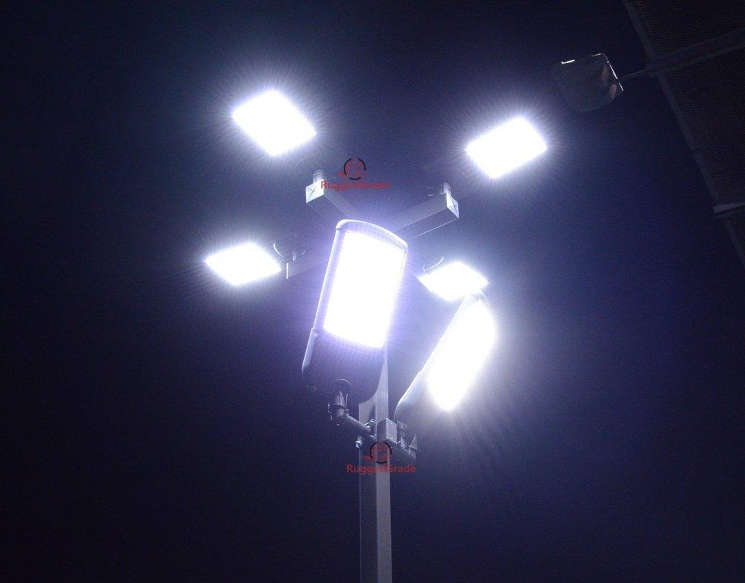 40,000 Lumen LED Parking Lot Lights – Pro Series - 300 Watt LED Parking Lot Light – Super Efficiency 135 Lumen to Watt - 5000K Bright White - Replaces 1000W Halide –Shoebox Light -Sport Court lights
