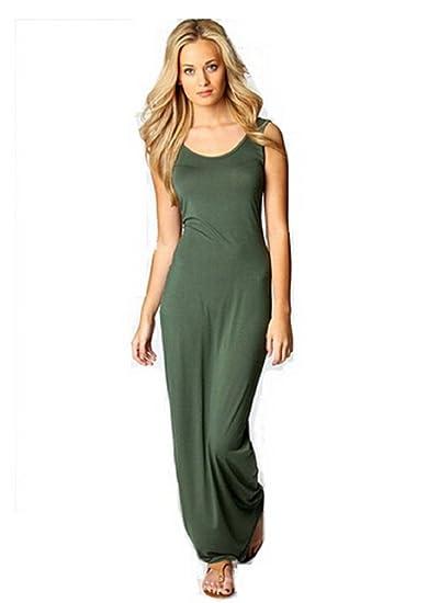 eb243f86b55d Women Summer Dress 2014 Tank Top Ankle Length Long Maxi Dress Ladies ...