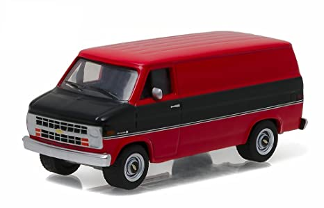 f6ce94d6acff74 Amazon.com  1986 Chevrolet G20 Van Black and Red