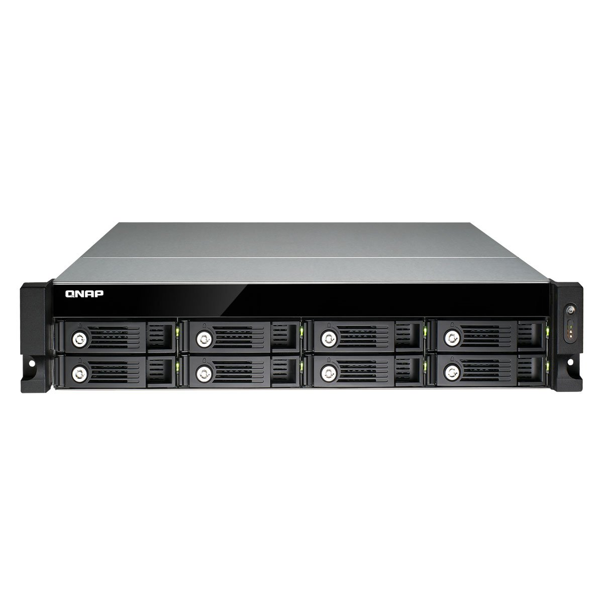 QNAP TS-853U-RP 8-bay 2U iSCSI NAS, Intel 2.0GHz Quad Core CPU with 4GB RAM, 2.5''/3.5'' SATA 6Gb/s, Hot-swappable, Redundant PSU