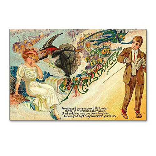 CafePress - Halloween Vintage Retro Classic Old Art Designs Po - Postcards (Package of 8), 6