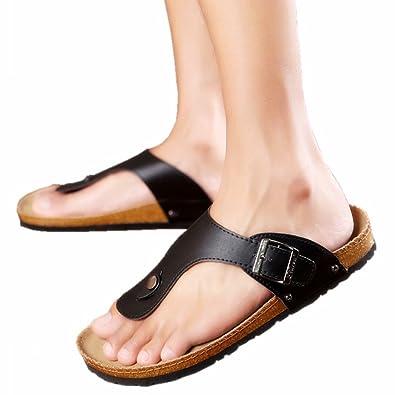 c32a83026c INNICON Cork Sandals Women New Summer flip Flops Solid Color Platform Shoes  Lover Beach Slippers Sandalia