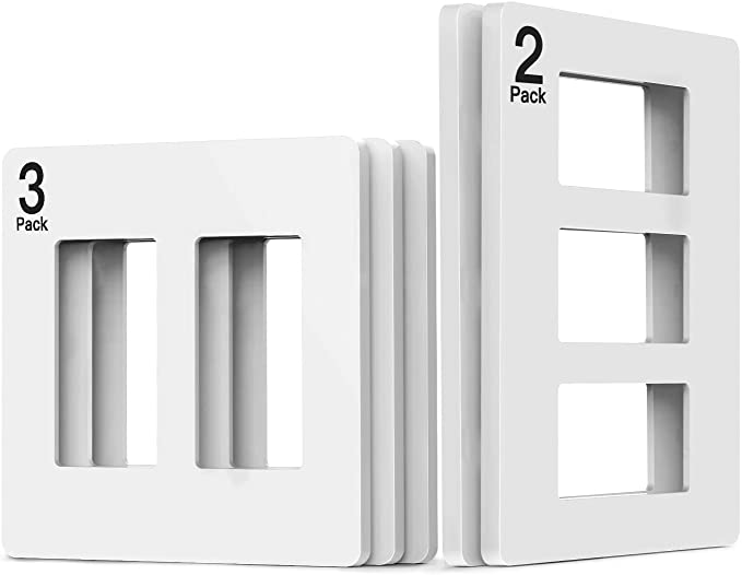 Treatlife Screwless Decorator Wall Plates Standard Size 2 Gang 3 Gang Light Switch Plate Outlet Covers White 5 Pack 2 Gang Wall Plates 3 Pack 3 Gang Wall Plates 2 Pack Amazon Ca Tools Home Improvement