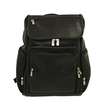 Amazon.com  Piel Leather Multi-Pocket Laptop Backpack 6c60932a318c3