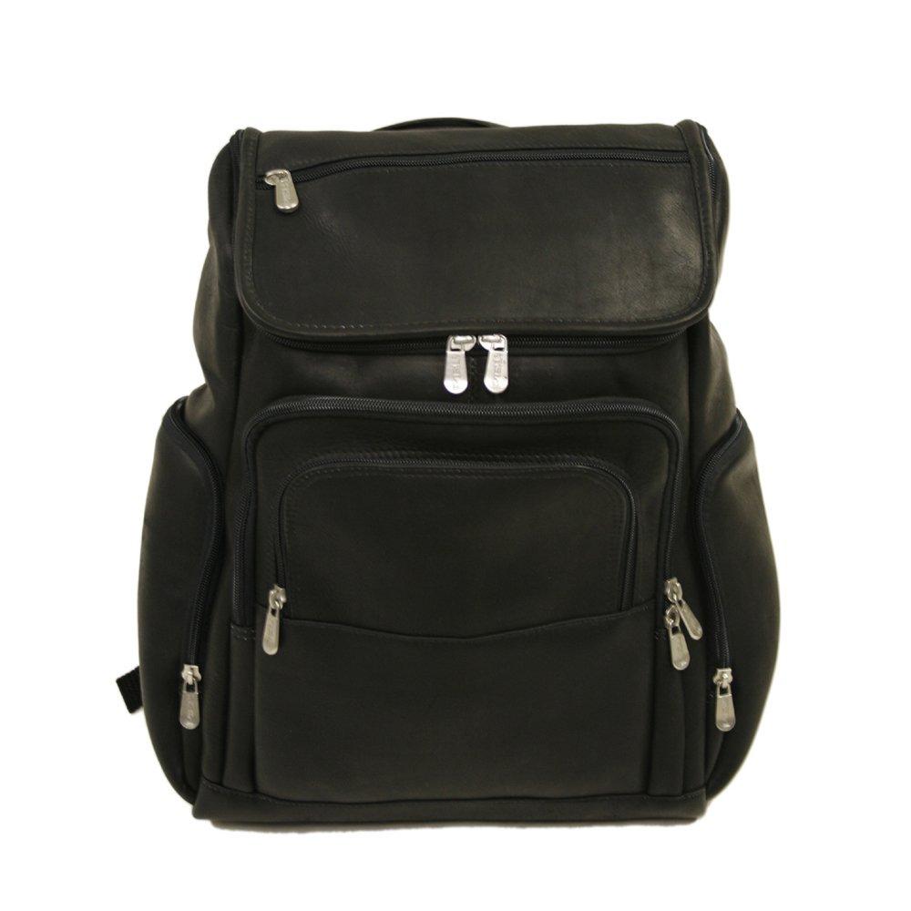 Piel Leather 2834-BLK Multi-Pocket Laptop Backpack - Black B0041SZ5H0