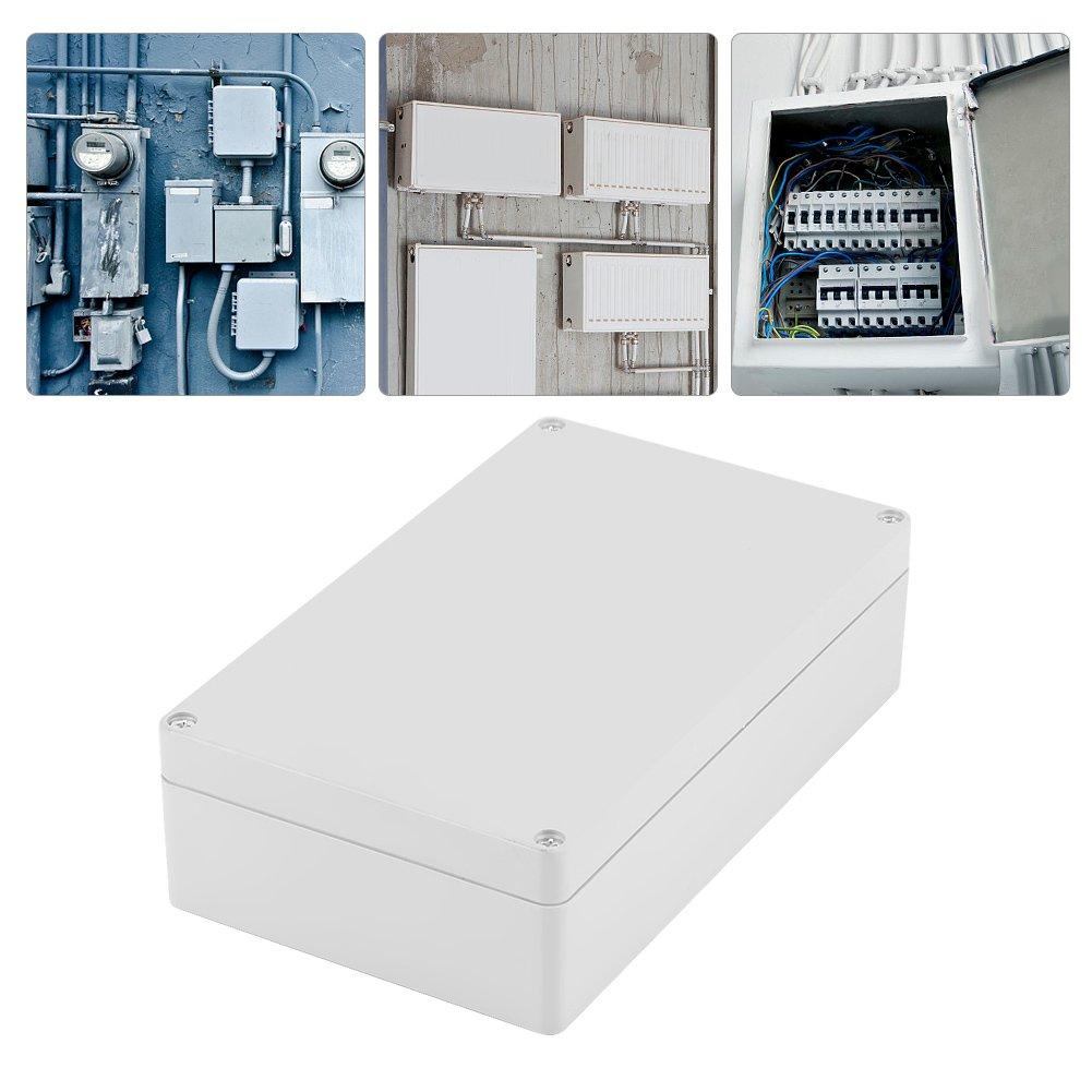 Caja de conexiones, 200 x 120 x 56 mm, resistente al agua, IP65, ABS, caja de conexiones para proyectos eléctricos