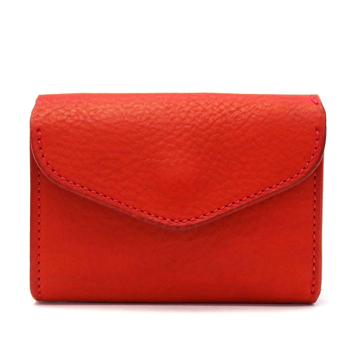 [クランプ]Cramp 三つ折り財布 Italian Shrink Leather Cr-170 B07CR3L8SX レッド レッド -