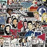Grey's Anatomy TV Show Stickers Cartoon Laptop Stickers Vinyl Sticker Computer Car Skateboard Motorcycle Bicycle Luggage Guitar Bike Decal 50pcs Pack (Grey's Anatomy)