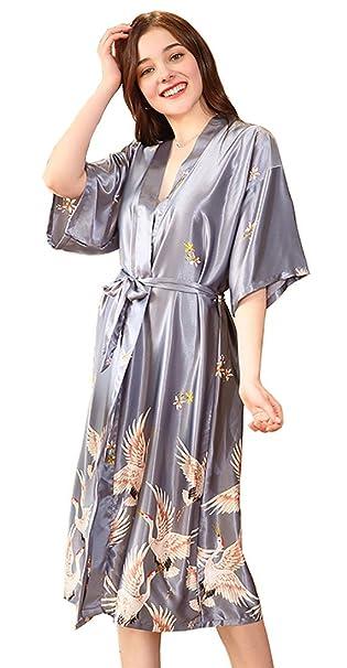 Glield Camisón Pijama de Satín Bata Ropa de Dormir para Mujer Suave,Cómodo,Sedoso y Agradable SY08: Amazon.es: Ropa y accesorios