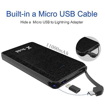 Amazon.com: 11000 mAh Cargador portátil Power Bank con ...