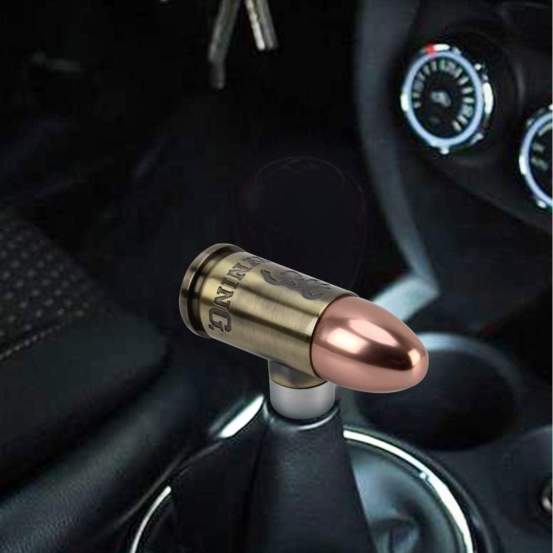 Gear shift knob Universal Bullet Shape Car Gear Shift Knob Modified Car Gear Shift Knob Auto Transmission Shift Lever Knob Gear Knobs,Gearshift Gear shift