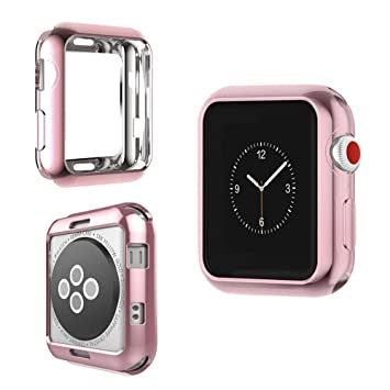 IvyLife Funda para Apple Watch 38mm Carcasa para iWatch Serie 3/2/1 Funda Suave para iWatch, Carcasa Protección de Pantalla de Apple Watch, TPU ...