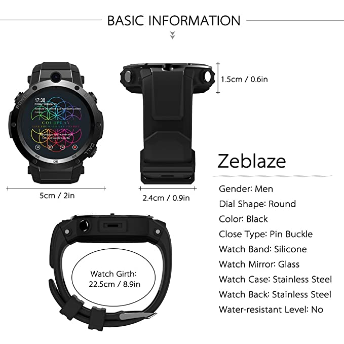 Nuevo reloj inteligente Zeblaze Thor S 3G GPS de 1,39 pulgadas Android 5.1 MTK6580 1,3 GHz 1 GB + 16 GB + tarjeta SIM Smart Watch BT 4.0: Amazon.es: ...
