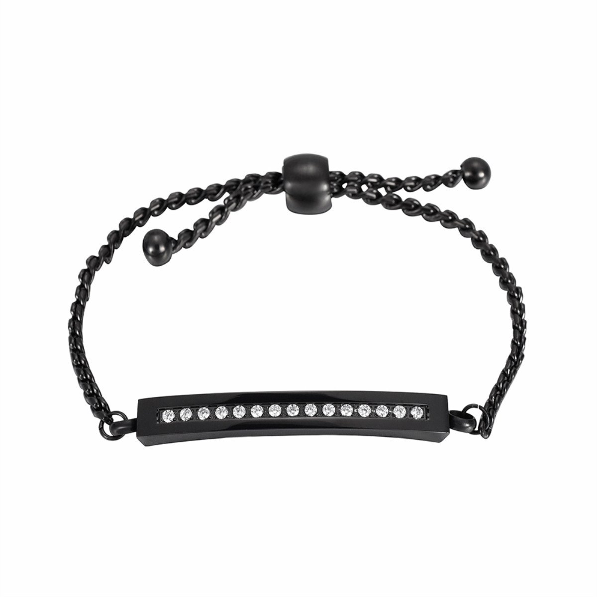 Pretty Cremation Urn Bracelet Memorial Your Loves Forever with Gift Box and Fill Kit (Black)