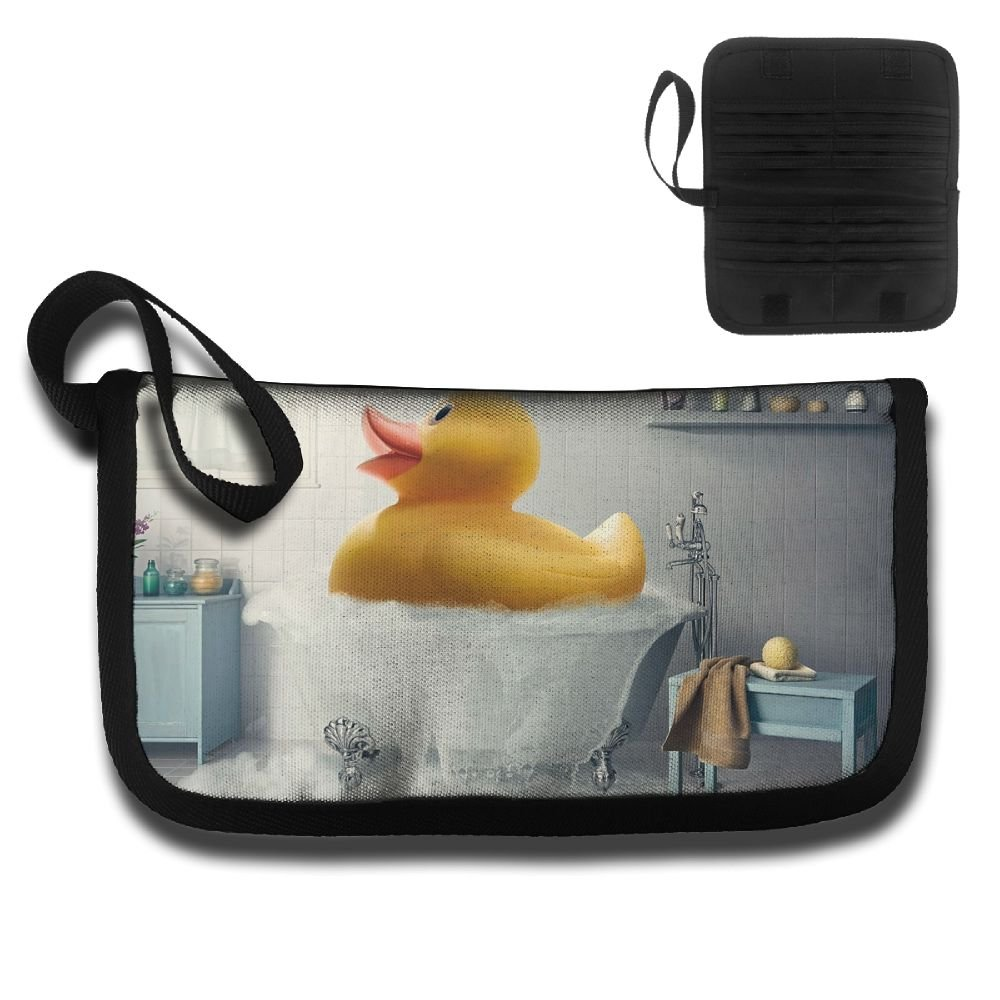 Gili Little Yellow Duck In The Bathroom Travel Passport /& Document Organizer Zipper Case