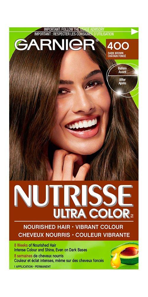 Garnier Nutrisse Ultra Color In 400 Dark Brown Vibrant Hair Dye For