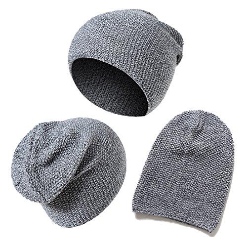 Biker de Gorro invierno suave KeepSa 2017 Beanie Womens caliente Brandnew Mens Unisex gris punto lana de de sombreros Gorro gorros PwxAq0fw
