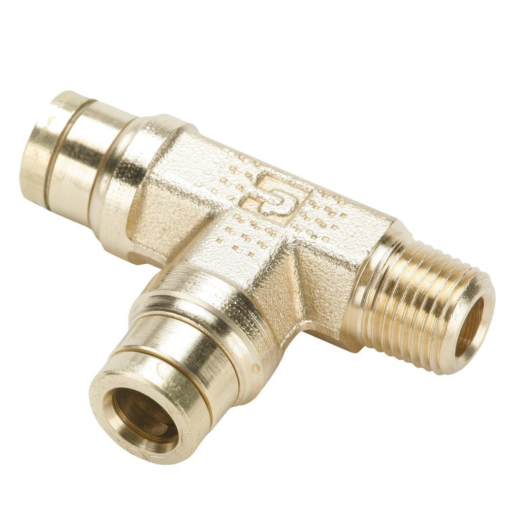 Fitting Tube to Pipe Push-to-Connect and NPTF Run Tee Rigid Parker 171PMTNS-4-4-pk20 Brass Push-to-Connect D.O.T 1//4 Pack of 20 1//4 Pack of 20 Brass